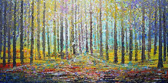 Art: The Forest by Artist LUIZA VIZOLI