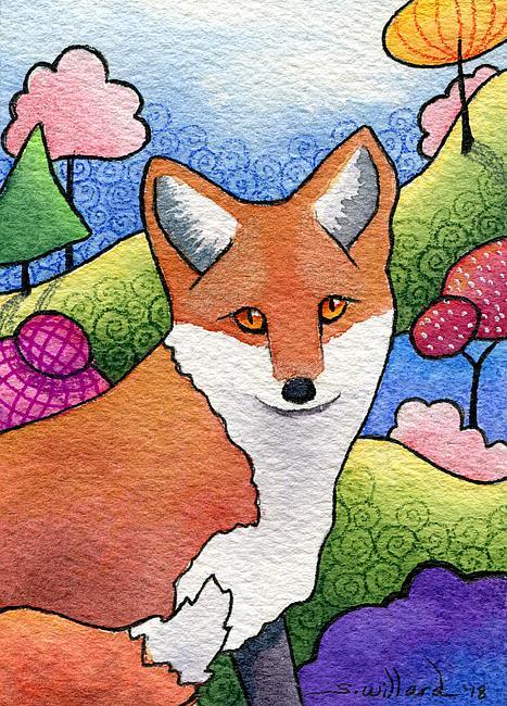 Art: Red Fox by Artist Sandra Willard