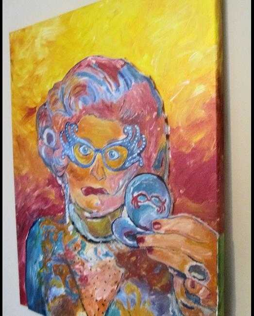 Art: Dame Edna Drag Queen Fun Original Pop Art Portrait Pop Art by Artist Paul Lake, Lucky Studios