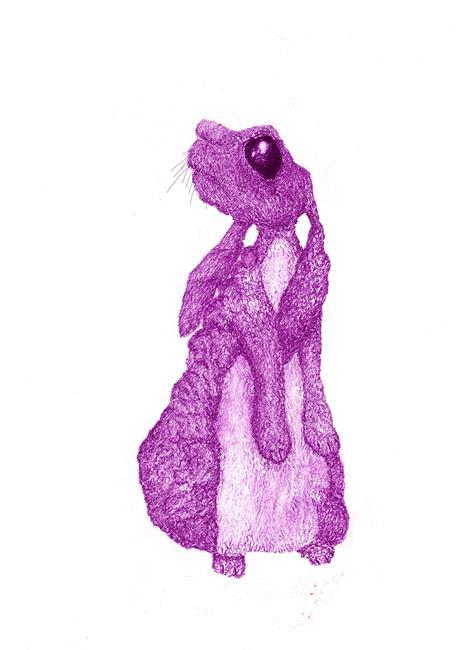 Art: PINK BUNNY by Artist Dawn Barker