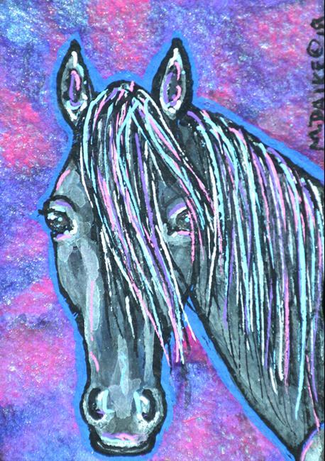 Art: Neon Stallion E.jpg by Artist Melinda Dalke