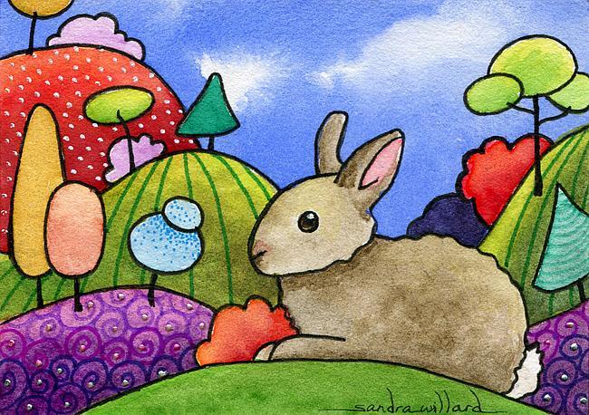 Art: Rabbit in the Hills by Artist Sandra Willard