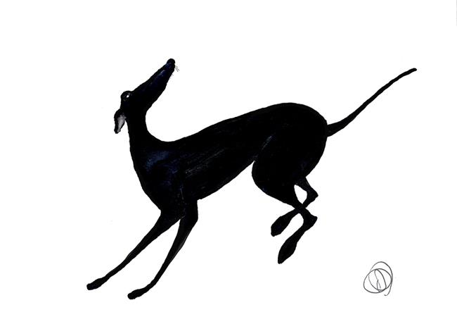 Art: RUNNING GREYHOUND g109 by Artist Dawn Barker