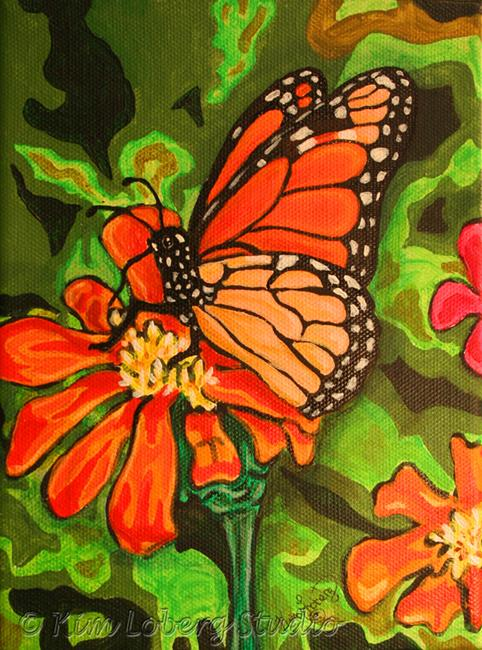 Art: A Splash of Orange by Artist Kim Loberg