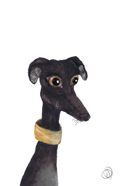 Art: GREYHOUND g988 by Artist Dawn Barker