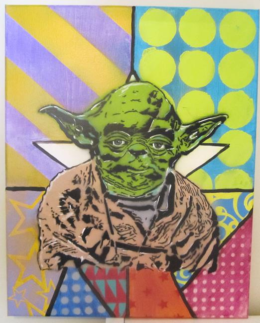 Art: Graffiti Pop Art Star Wars Yoda by Artist Paul Lake, Lucky Studios