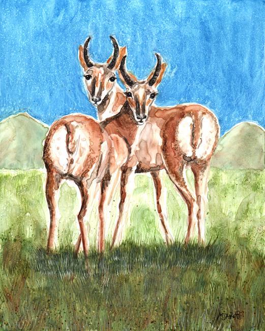 Art: Antelope Twins by Artist Melinda Dalke