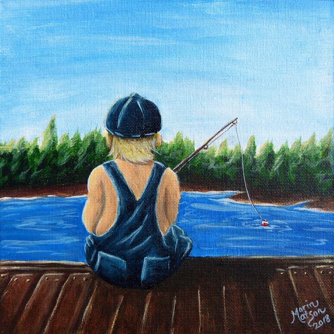 Art: Playing Hooky by Artist Monique Morin Matson