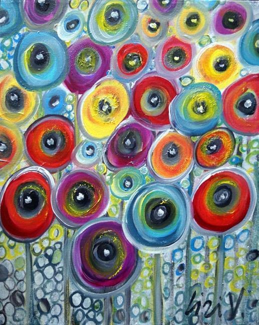 Art: COLORFUL FLOWERS by Artist LUIZA VIZOLI
