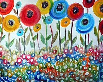 Art: HAPPY DAY Poppy Flowers by Artist LUIZA VIZOLI