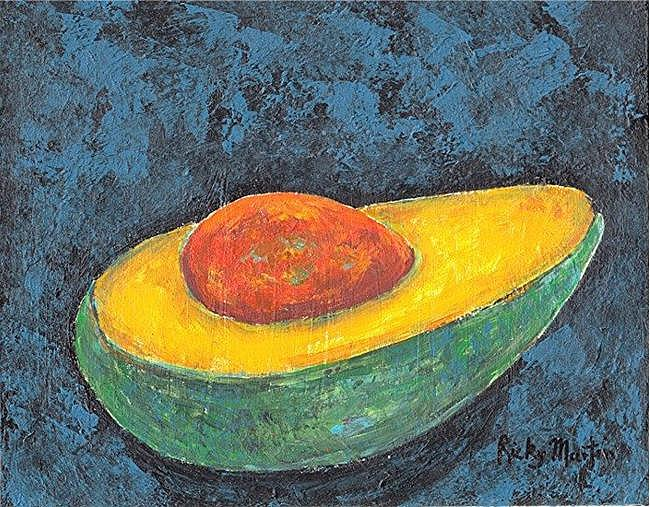 Art: Avocado - SOLD by Artist Ulrike 'Ricky' Martin
