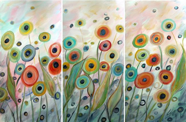 Art: POPPIES The Soft Touch of the Wind by Artist LUIZA VIZOLI