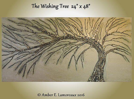Art: The Wishing Tree (sold) by Artist Amber Elizabeth Lamoreaux