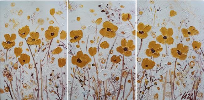 Art: GOLD FLOWERS by Artist LUIZA VIZOLI
