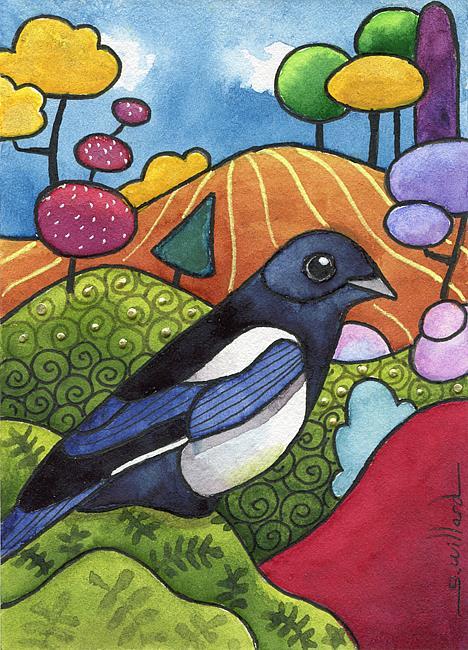 Art: Magpie by Artist Sandra Willard