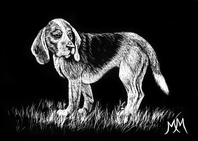 Art: Benny Beagle by Artist Monique Morin Matson