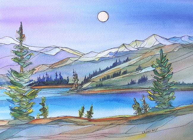 Art: Wild in the Mountains (sold) by Artist Kathy Crawshay