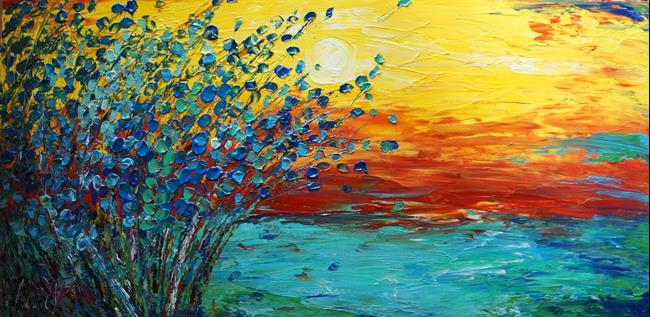 Art: Minnesota Sunset by Artist LUIZA VIZOLI