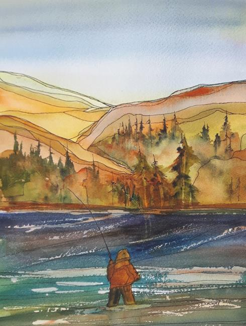 Art: On the River by Artist Kathy Crawshay