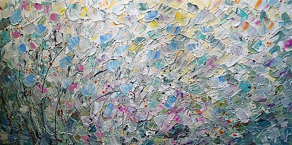 Art: SUMMER PASTEL PETALS by Artist LUIZA VIZOLI