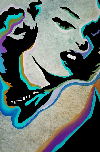 Art: abstract 477 2436 Original Abstract Art Whats Her Name by Artist Thomas C. Fedro