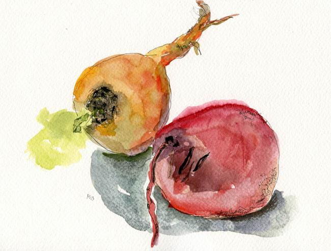 Art: Two Beets by Artist Gabriele Maurus