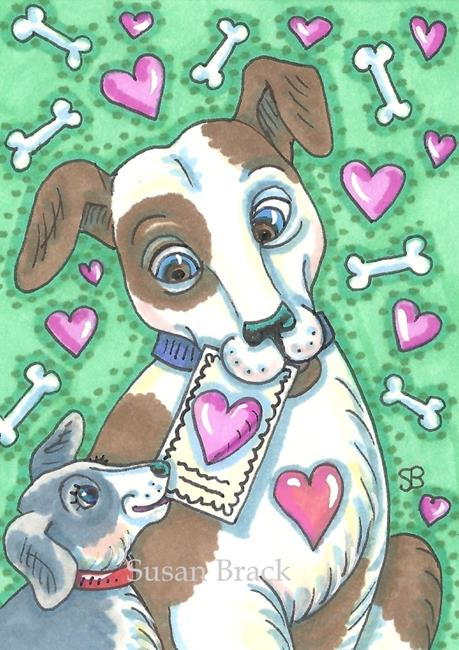 Art: DOG GONE VALENTINE by Artist Susan Brack