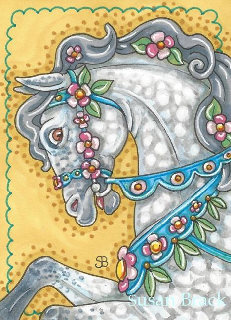 Art: CAROUSEL MUSTANG by Artist Susan Brack
