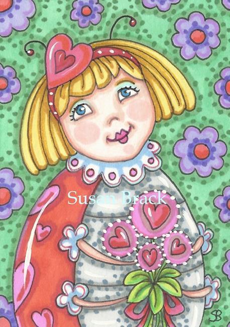 Art: WILL YOU BE MINE LADYBIRD by Artist Susan Brack