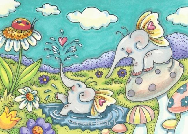 Art: ELE FAIRIES by Artist Susan Brack