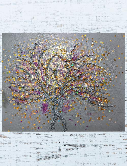 Art: Glamour Tree (sold) by Artist Amber Elizabeth Lamoreaux