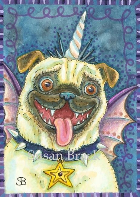 Art: GOTH PUG by Artist Susan Brack