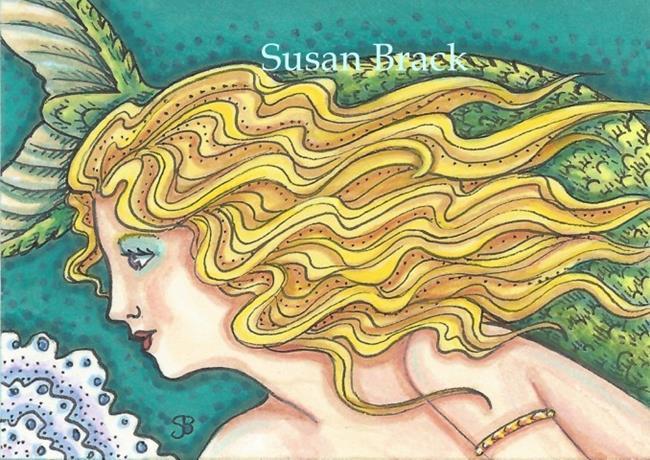 Art: HAIR OF STARFISH GOLD by Artist Susan Brack
