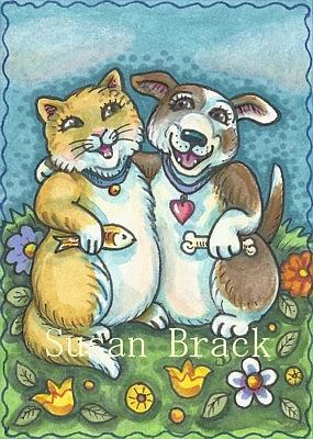 Art: BEST OF FRIENDS by Artist Susan Brack