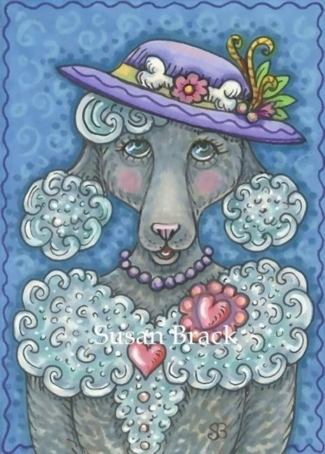 Art: BRIGITTE AN UPTOWN POODLE by Artist Susan Brack
