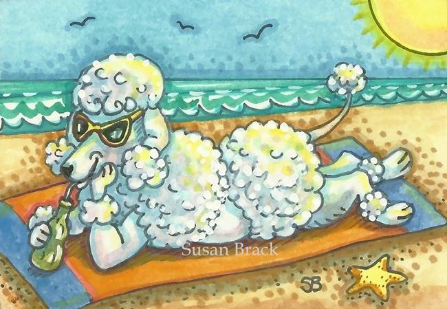 Art: DAY AT THE DOG BEACH by Artist Susan Brack