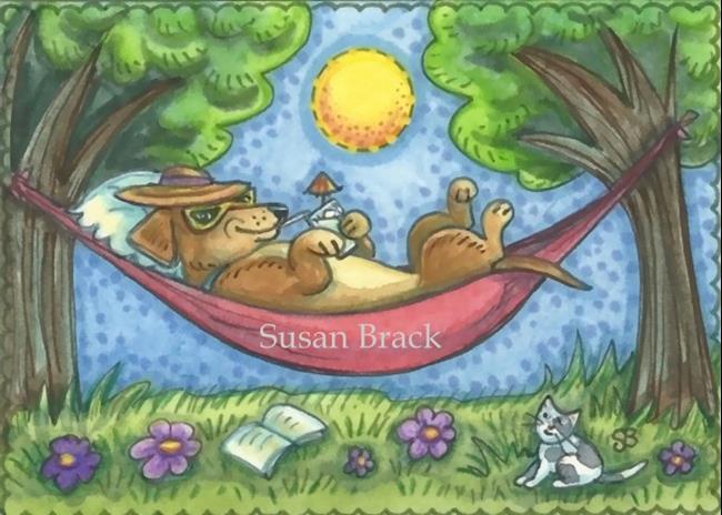 Art: DOXIE DAYS OF SUMMER by Artist Susan Brack