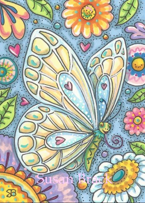Art: BUTTERFLY SMILE by Artist Susan Brack