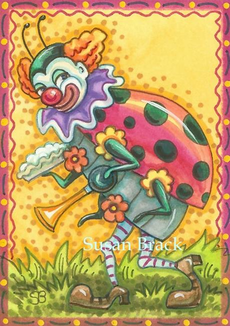 Art: HERE COMES THE LADYBUG CIRCUS by Artist Susan Brack