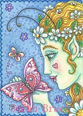 Art: FAIRY BE MINE BUTTERFLY by Artist Susan Brack