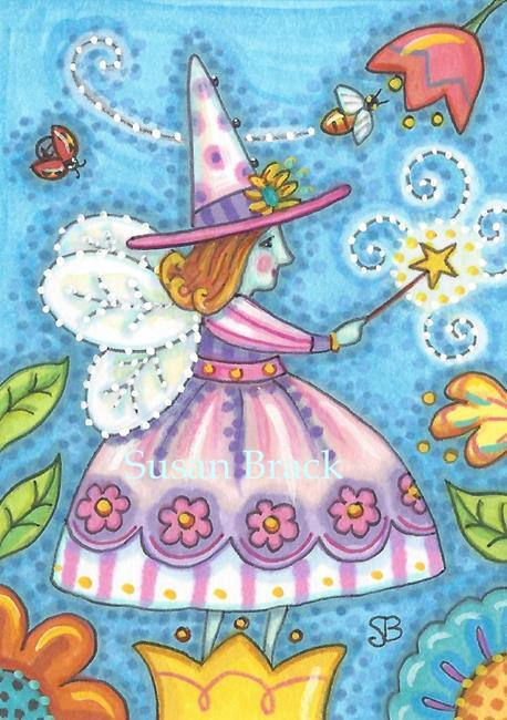 Art: GARDEN WITCH FAIRY by Artist Susan Brack