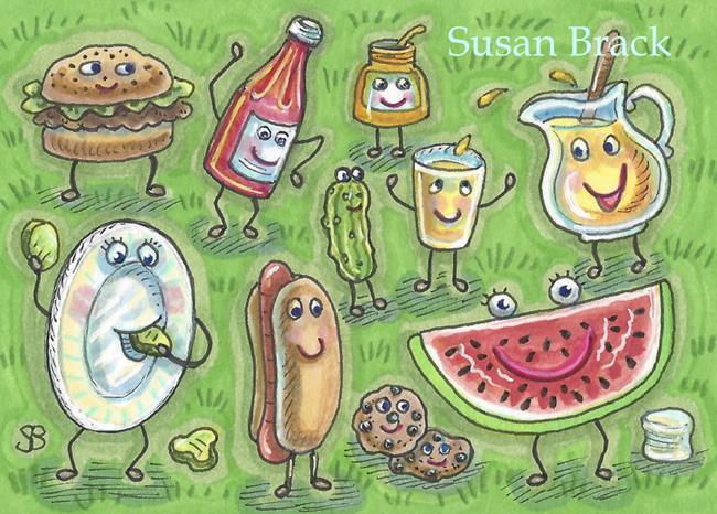 Art: SUMMER TIME CREW by Artist Susan Brack