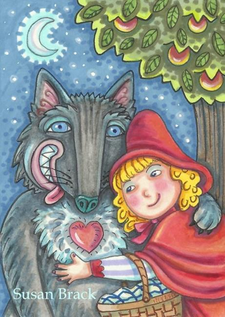 Art: WOLVES NEED HUGS TOO by Artist Susan Brack