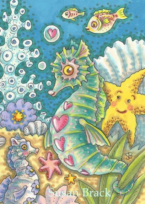 Art: FRIENDS OF THE SEA by Artist Susan Brack