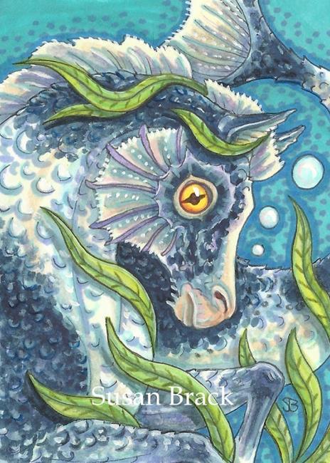 Art: SEA PONY by Artist Susan Brack