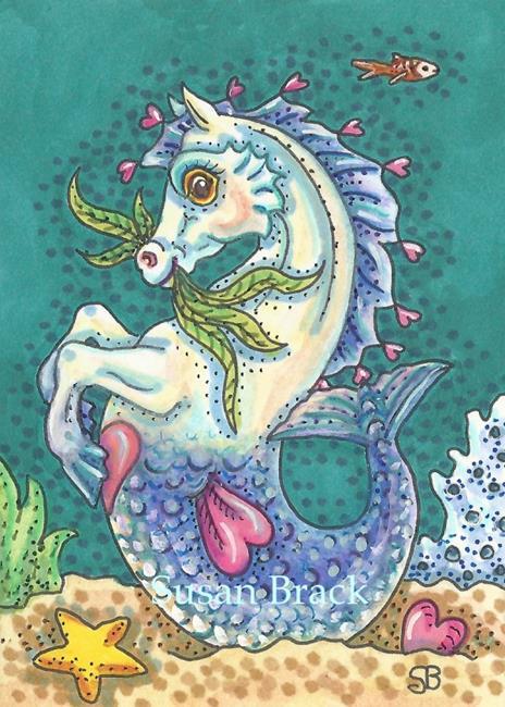 Art: BLUE SEA PONY by Artist Susan Brack
