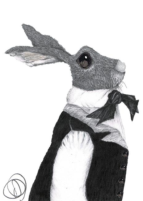 Art: LORD HARE MAN h3780 by Artist Dawn Barker