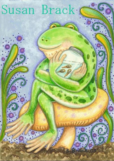 Art: TADPOLE LULLABY by Artist Susan Brack