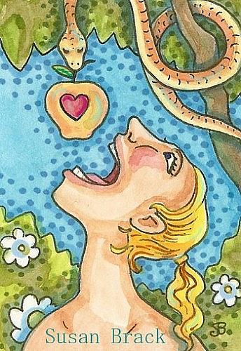 Art: BIG MOUTH EVE by Artist Susan Brack