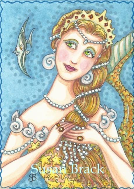 Art: DRIPPING IN PEARLS by Artist Susan Brack
